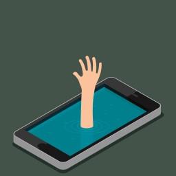 """<p style=""""color:#d54622"""";>Das Smartphone als Krankmacher</p>"""