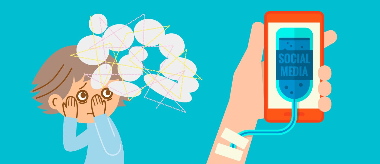 Die Abhängigkeit vom Smartphone kann zu psychischen Problemen führen.